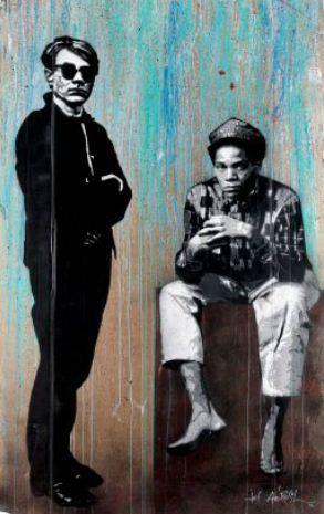 Jef Aerosol Warhol & Basquiat 2012