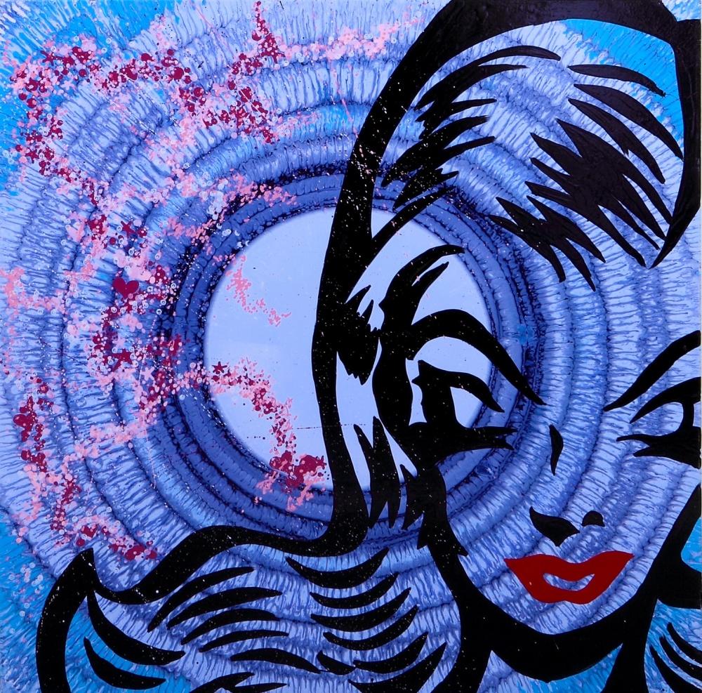 Lot N°39 - Artiste Quik - Carnaval Acrylique sur toile H_100 cm L_100 cm - Estimation : 2 000/4 000€