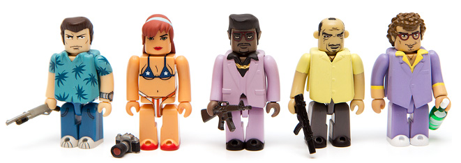 GTA-viceMedicom Toy X Rockstar Games - Grand Theft Auto Vice City Kubrick Sets-city-kubrick