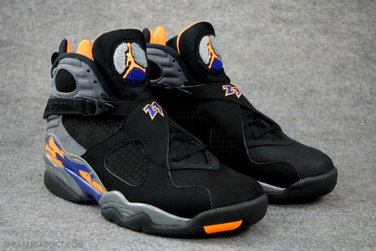Air Jordan 8 Phoenix Suns Black-Citrus 2013