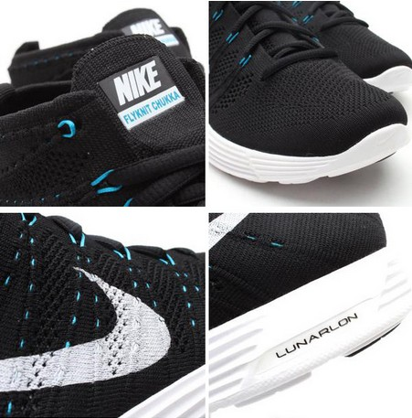 Nike Lunar Flyknit Chukka Black Style - Couleur 554969-031 -2013