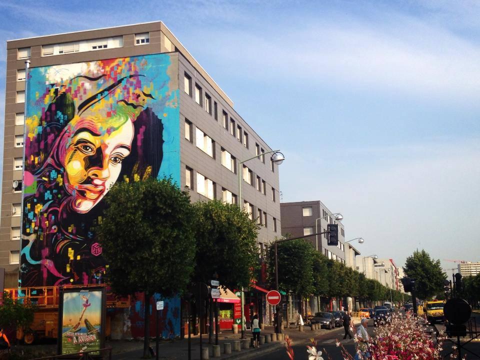 C215 nouvelle peinture murale à Ivry sur Seine | Sneak-art