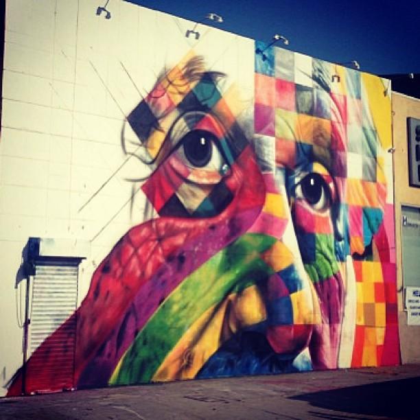Eduardo Kobra X Mr BrainWash Mur à Los Angeles
