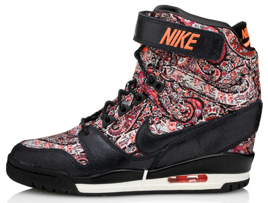Air Revolution Sky Hi sneakerboots from the Nike X Liberty collection black