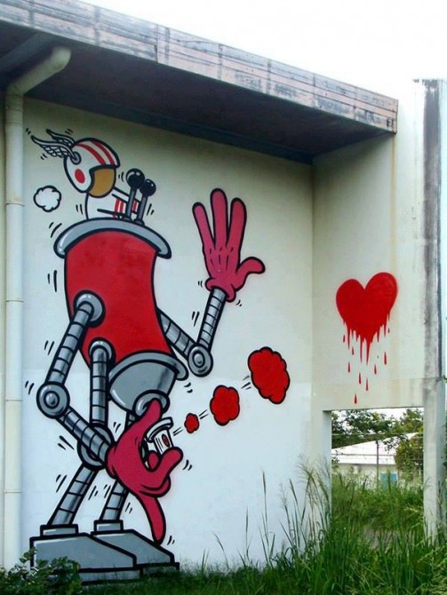Jace Street Art love