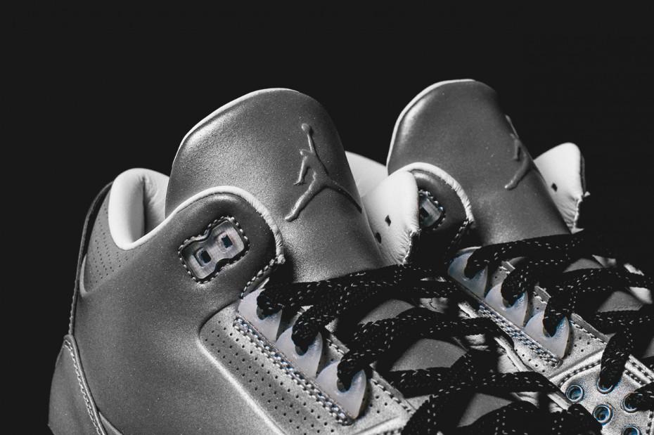 Air Jordan 3 5Lab3 Metallic Silver toe