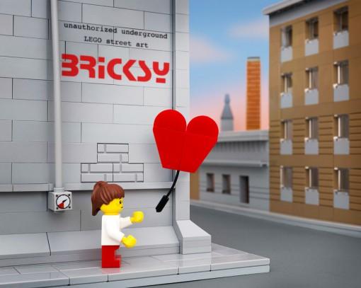 Banksy Heart Ballon Red Lego