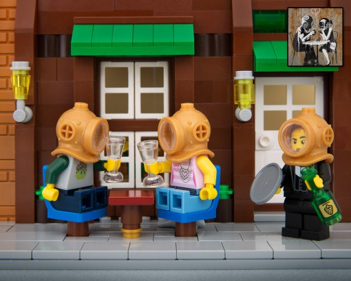Banksy Street Lego
