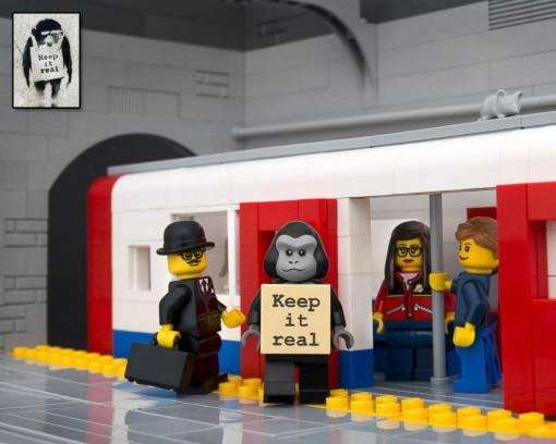 Lego Banksy Keep It Real