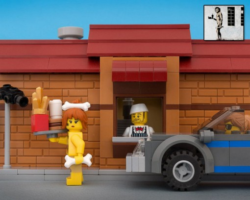 Lego Banksy Street