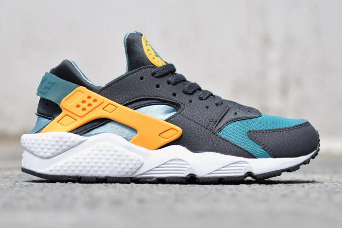 Homme Nike Air Huarache orange/jaune/blanc