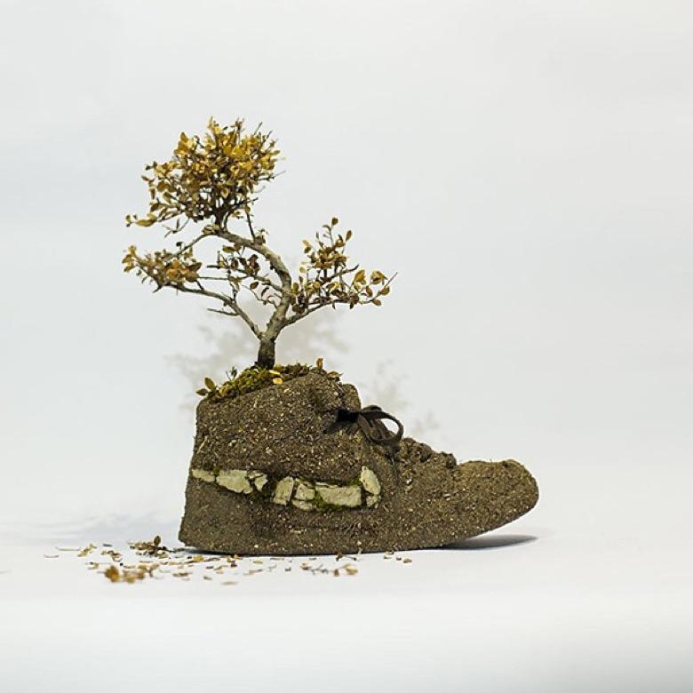 Les sneakers Nike végétales de Monsieur Plant