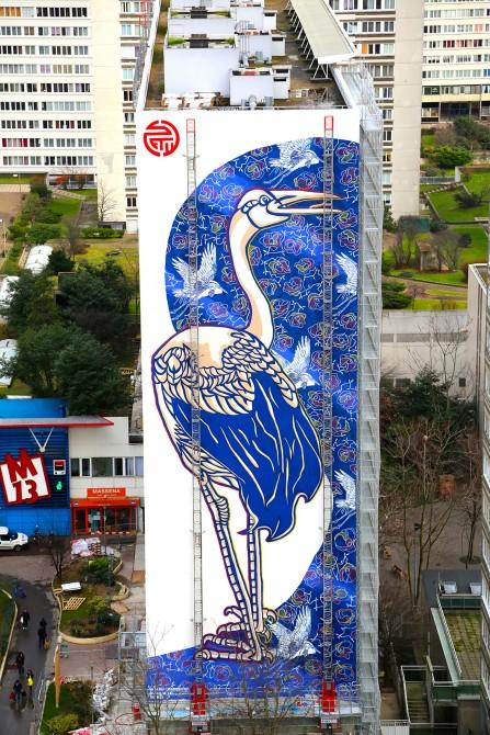 Fresque mural Street Art Paris 13 - Stew