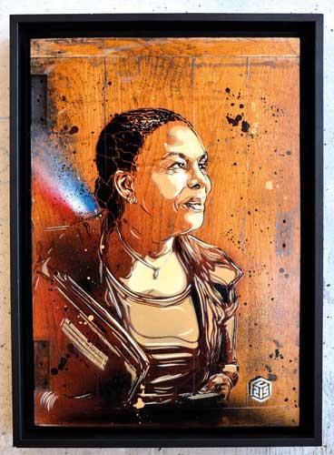 Taubira - Street Art - C215 - Exposition Douce France