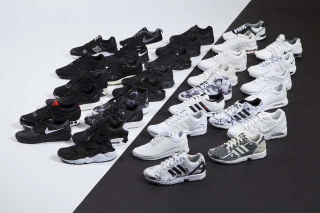 Foot Locker Collection Black and White