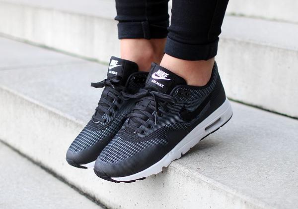 chaussures vans pas cher homme - Nike Air Max 1 Ultra Jacquard \u0026#39;Black\u0026#39; |