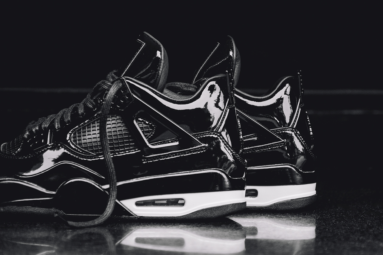 Air Jordan 11LAB4 Black White Photo