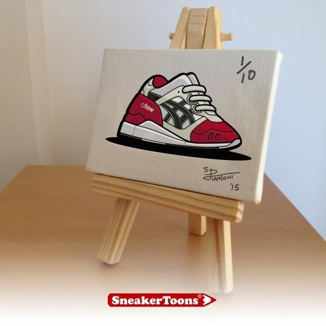 Mini Tableaux SneakerToons asics gell lyte III afew