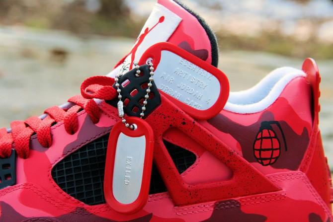 Air Jordan 4 Customisation by Ecentrik Artistry