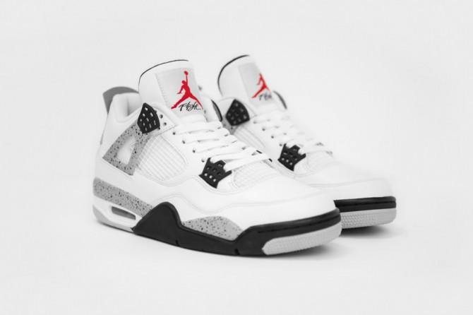 Photos officielles Nike Air Jordan 4 White Cement 2016