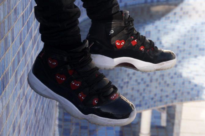 Custom-Air-Jordan-11--X-Comme-des-Garçons