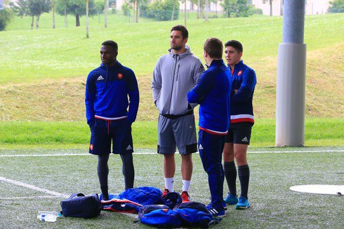 Joueurs de rugby FFR a Marcoussis
