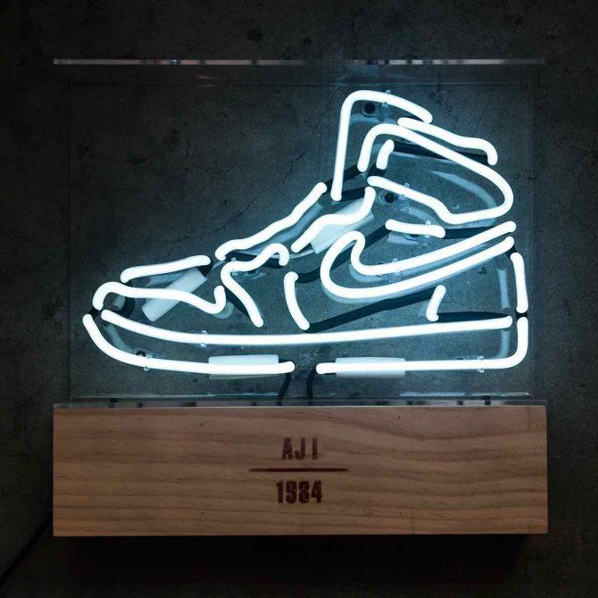Neon Lamp Air Jordan 1 White