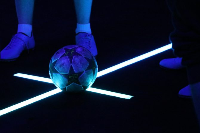 Match de foot au Stadium of Lights
