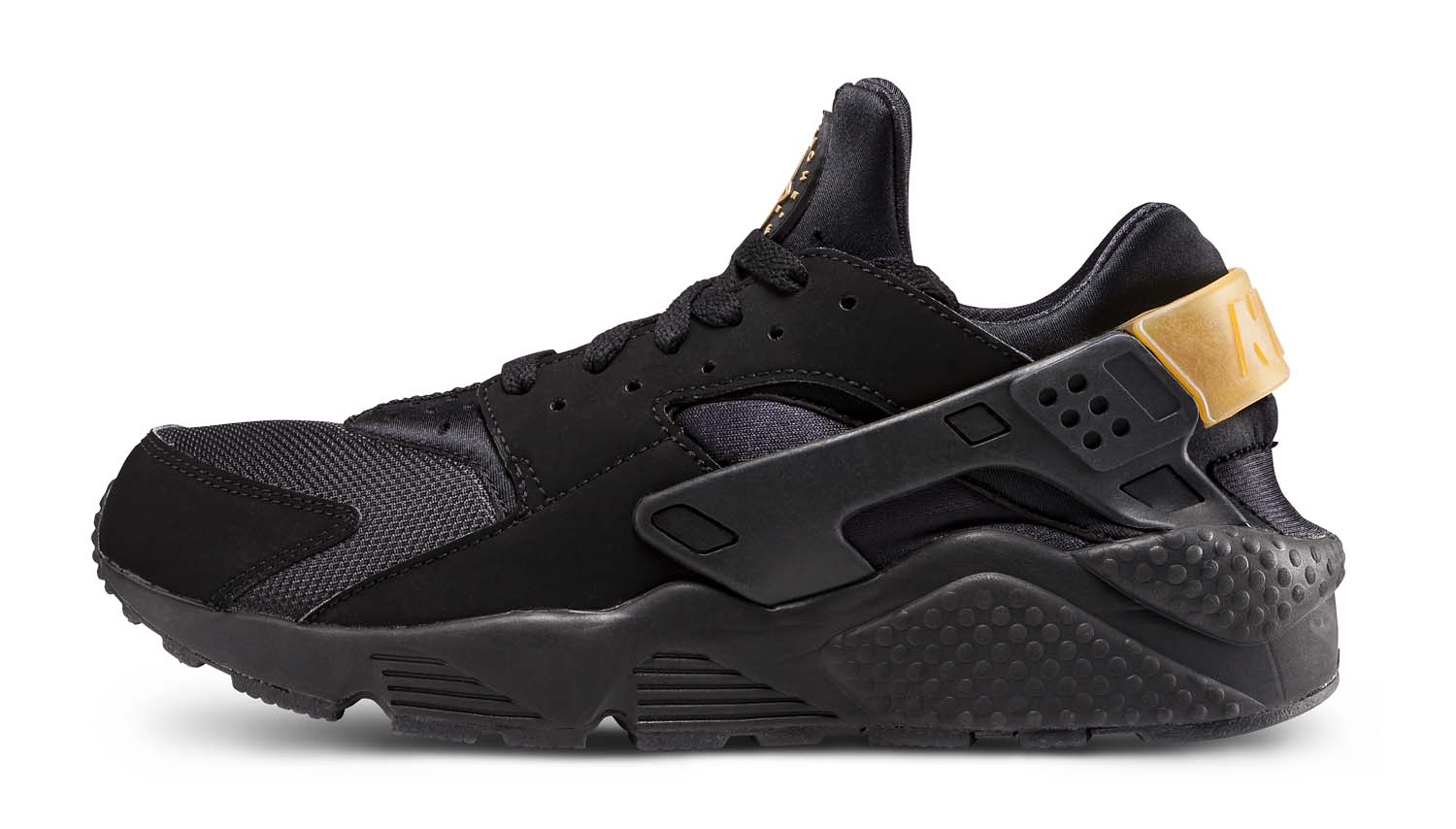 nike-huarache-run-black-gold-foot-locker