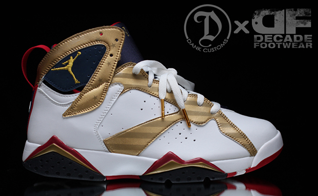 Air Jordan 7 Olympic Gold Medal Custom