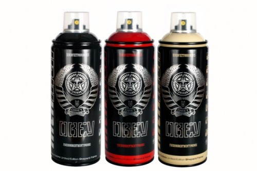 MTN COLORS x OBEY Limited Edition Spray Paint