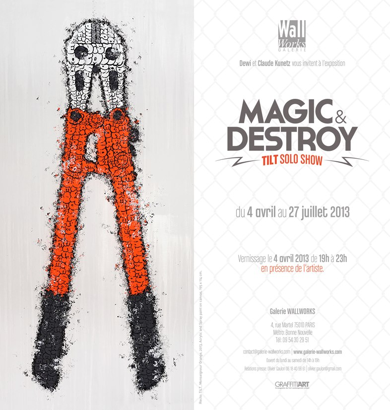 Affiche Exposition Tilt Magic et Destroy