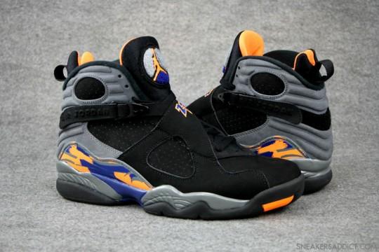 Air Jordan 8 Phoenix Suns Black-Citrus