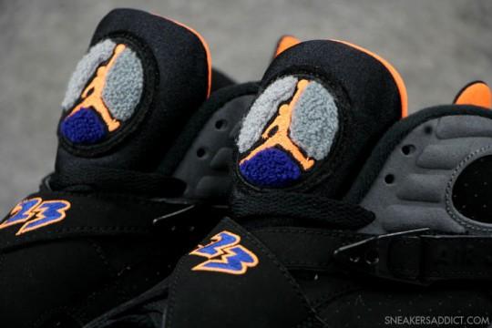 Air Jordan 8 Retro Phoenix Suns Black Citrus