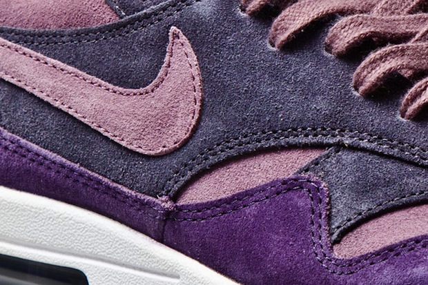 Nike air max 1 violet mauve cuir suede