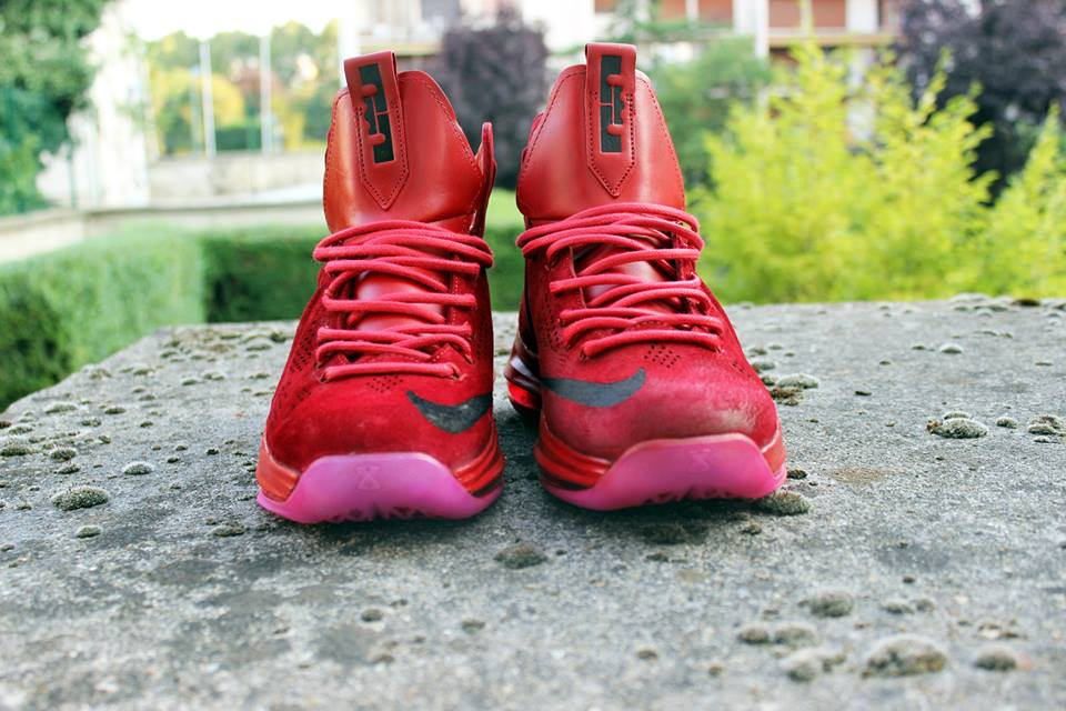 Customisation RudeBoy Lebron Red Suede