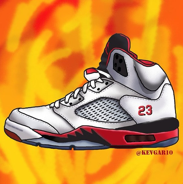 Air Jordan 5firered- Kevgar10