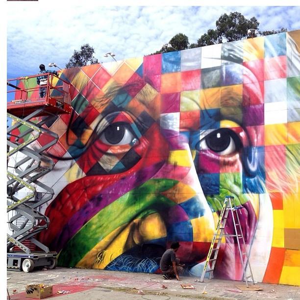 Eduardo Kobra Mur à Los Angeles