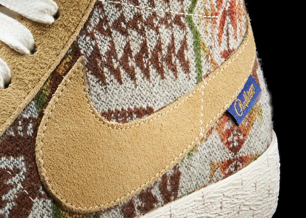Nike iD x Pendleton Blazer Detail