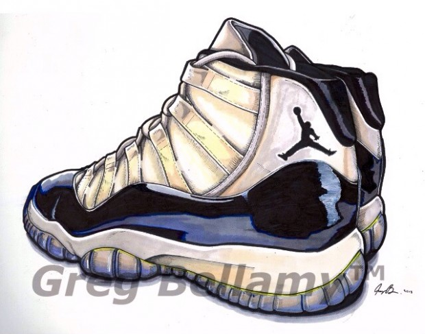 Sneaker Art Air Sneakers De Par Jordan Bellamy Illustration Greg – R5AL34qcSj