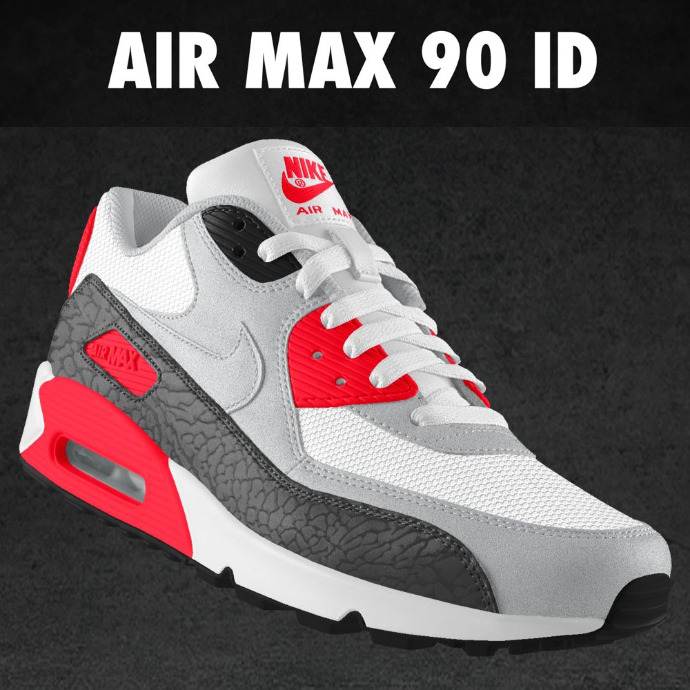 nike air max 90 id nouvelles options elephant print glow. Black Bedroom Furniture Sets. Home Design Ideas
