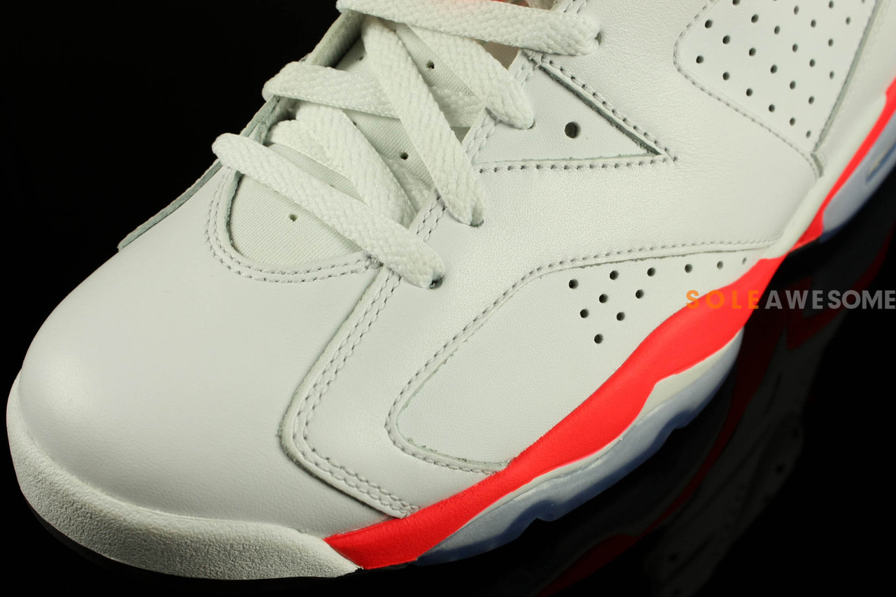 Air Jordan VI 6 White-Infrared-Black
