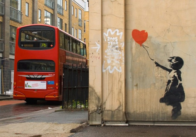 Banksy ballon heart