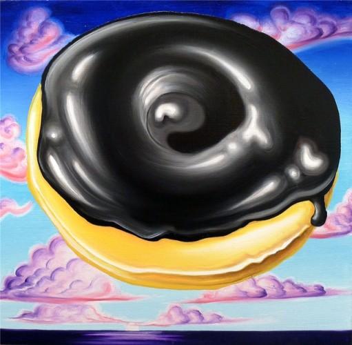 Kenny-Scharf-Donut-at-Dawn-511x500