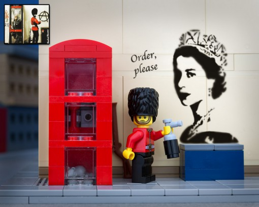 Banksy Order Please Anarchy Lego