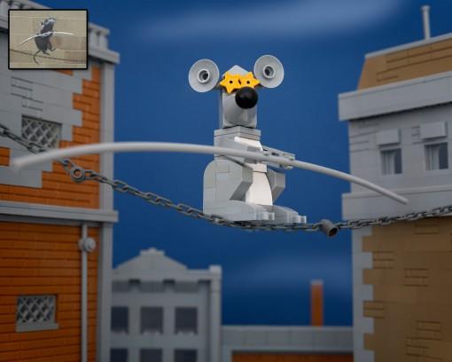 Banksy Rat Lego