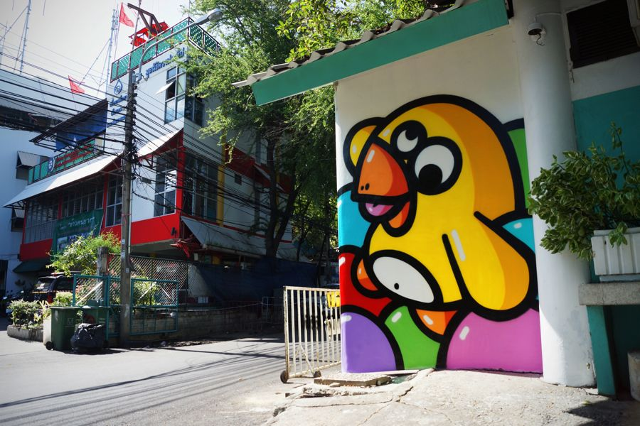 Birdy Kids exposition street art a la galerie l oeil ouvert