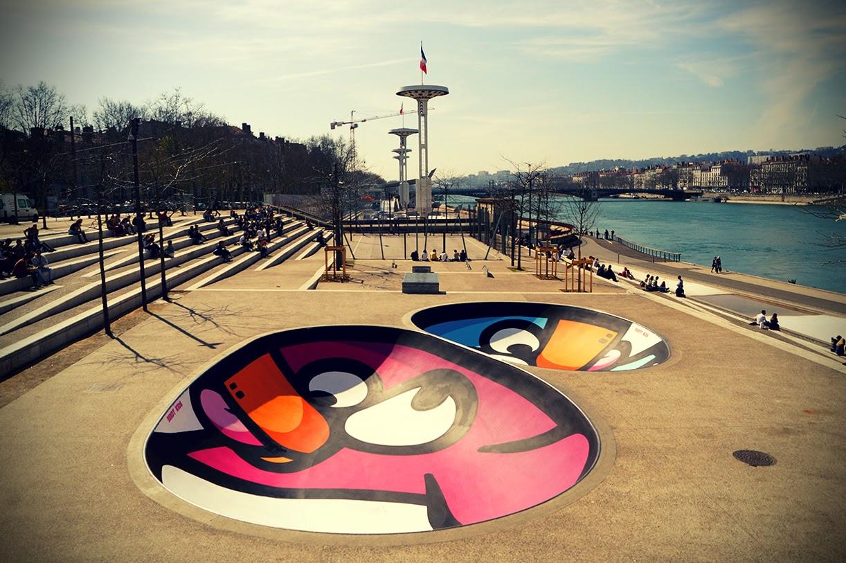 Birdy Kids Street Art au Skatepark de Lyon