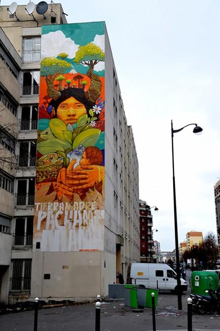 Fresque mural Street Art Paris 13 - Alapinta