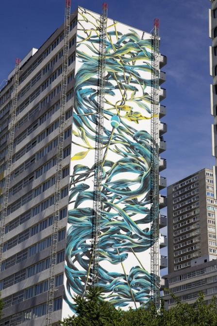 Fresque mural Street Art Paris 13 -Pantonio